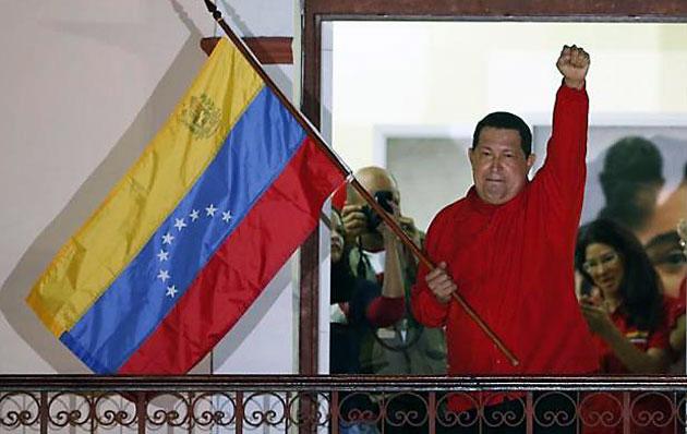 Hugo Chávez el pasado domingo luego de ganar las elecciones - Foto: Web