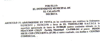 Decreto 934/2004 firmado por Néstor Méndez