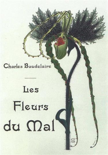 Illustration of Les Fleurs du Mal by Carlos Schwabe, 1900