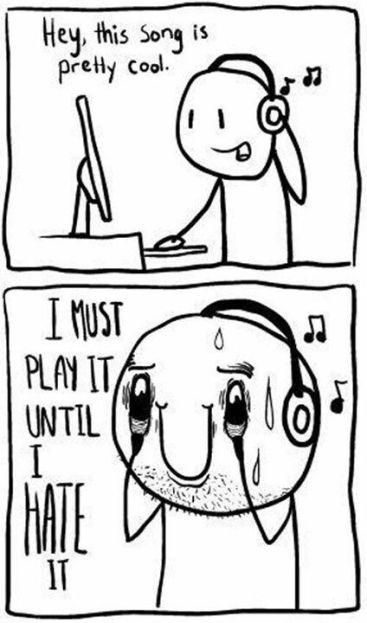 listen repeat fav song