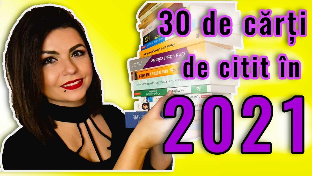 VIDEO. 30 de cărți de citit în 2021 | Obiective, realizări 2020, autori cu care rezonez sau nu