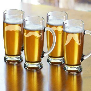 11. Pivné poháre s fúzami