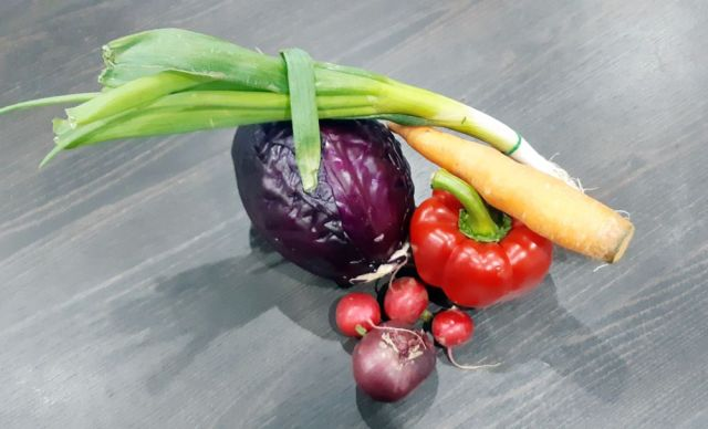 Zelenina použitá na recept.