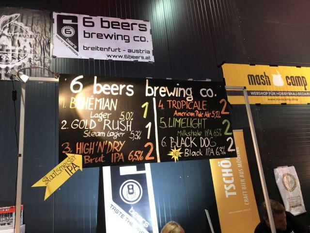 Ponuka pivovaru 6 beers brewing co.