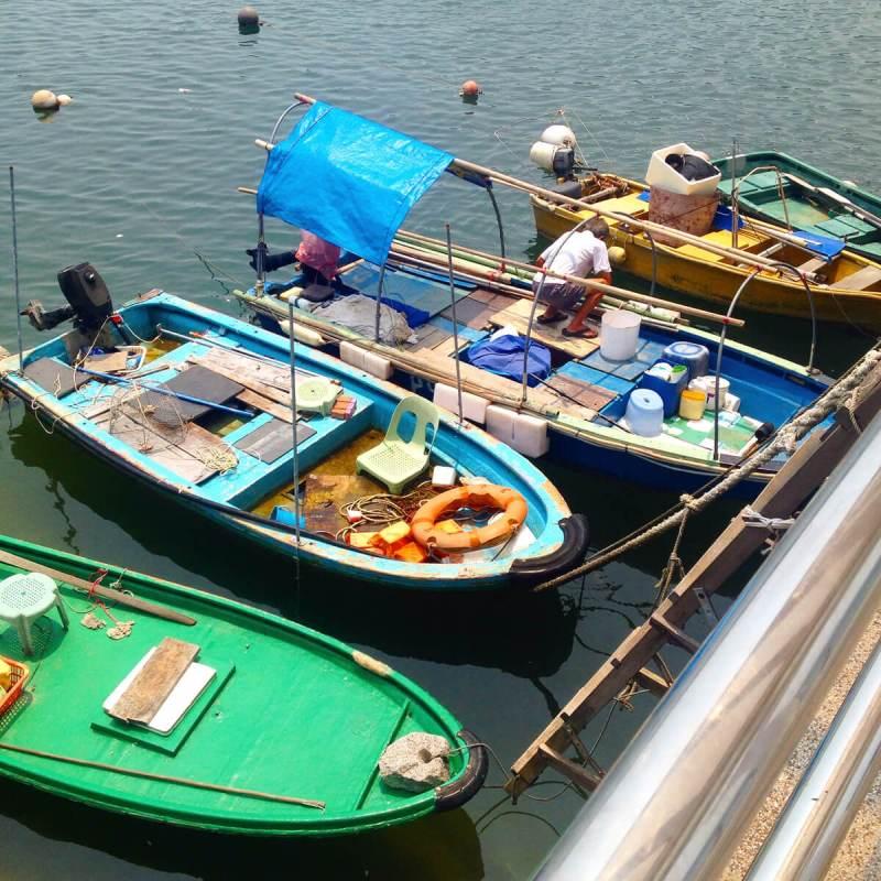 Fischer auf Lamma Island