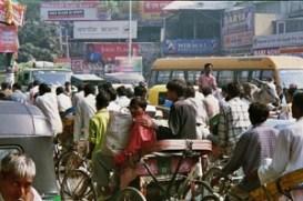Straßenszene in Indien