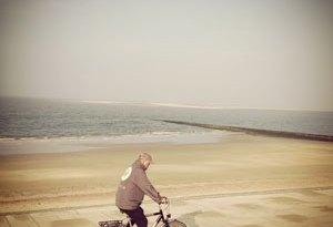 Fahrradfahrer auf Borkum