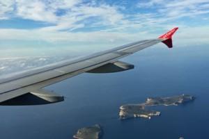 Airberlin über Ibiza