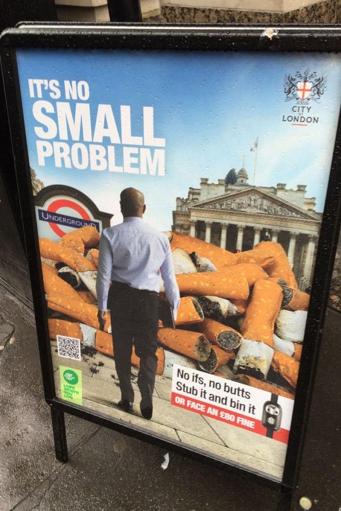 Plakat in London