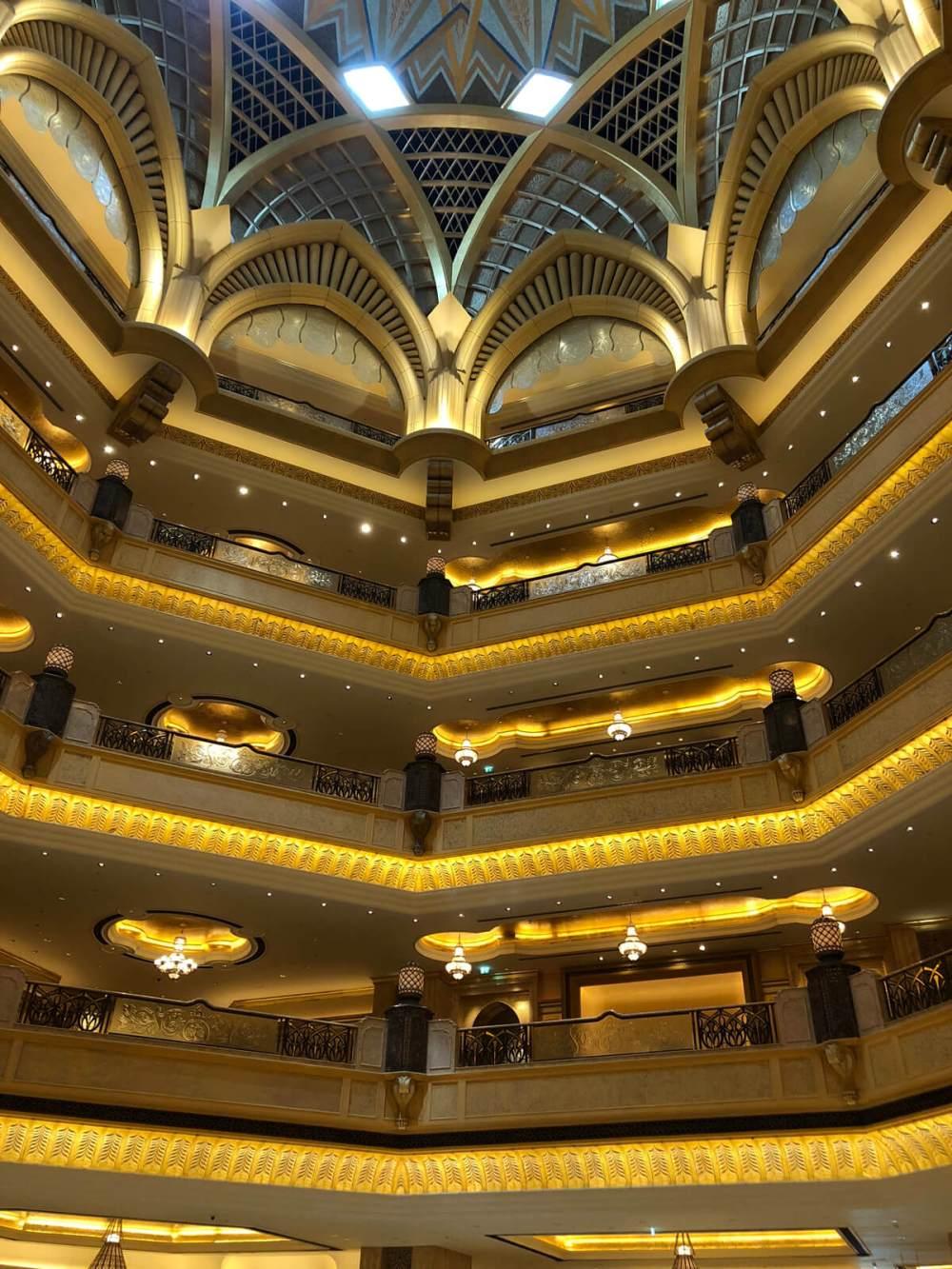 Im Emirates Palace in Abu Dhabi