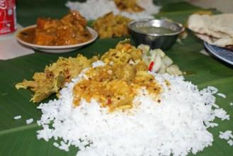 Reis vom Bananenblatt