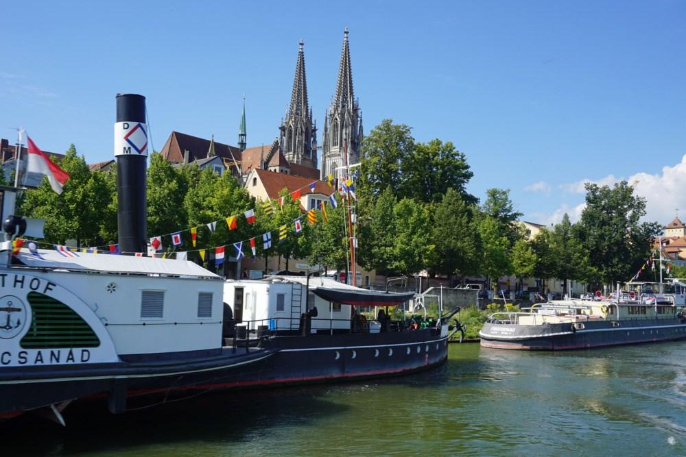 Von der Donau aus