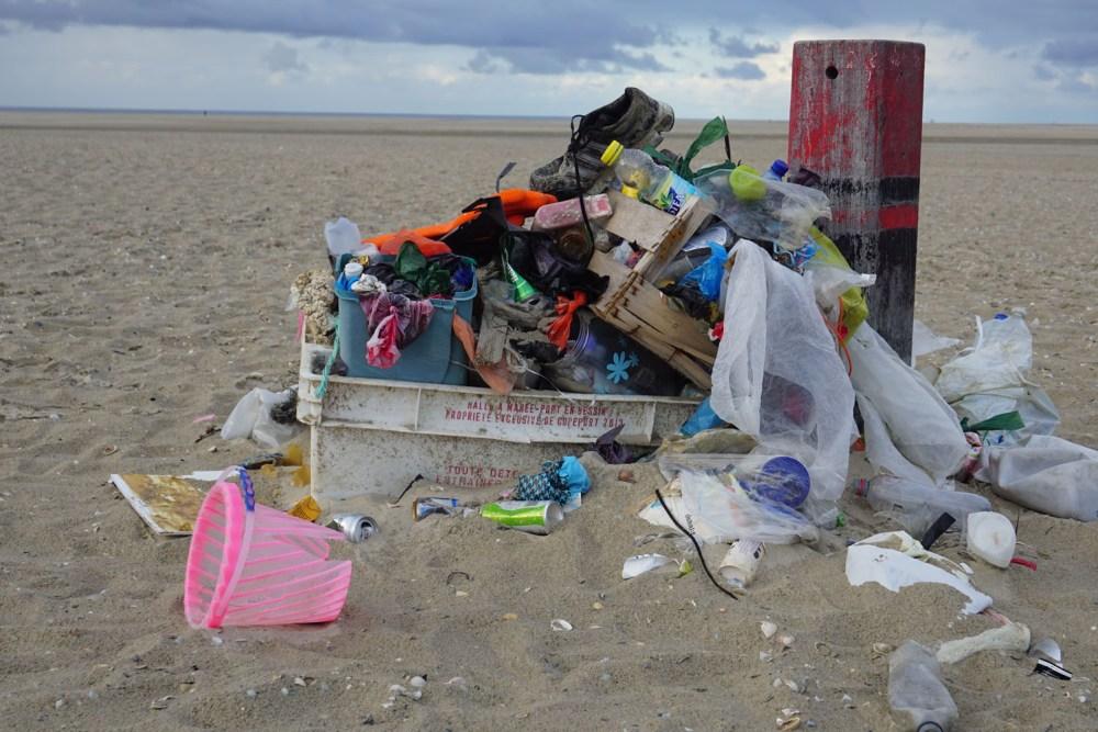 Angespülter Müll