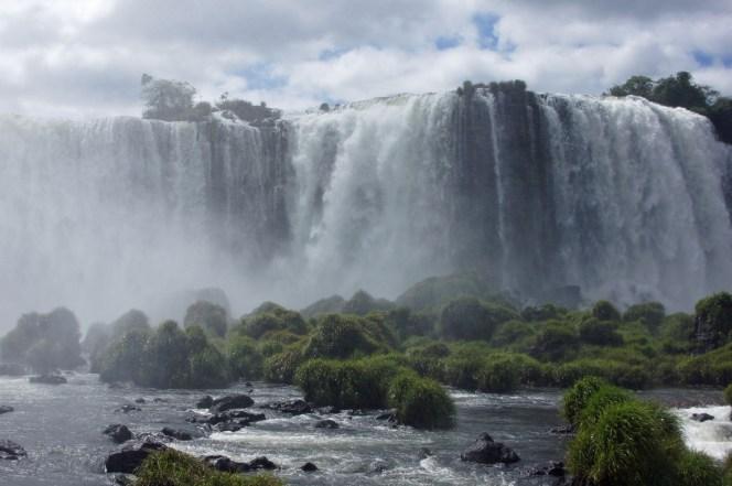 Wasserfälle auf der Grenze zwischen Brasilien und Argentinien