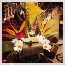 Blumenschmuck im Hotel
