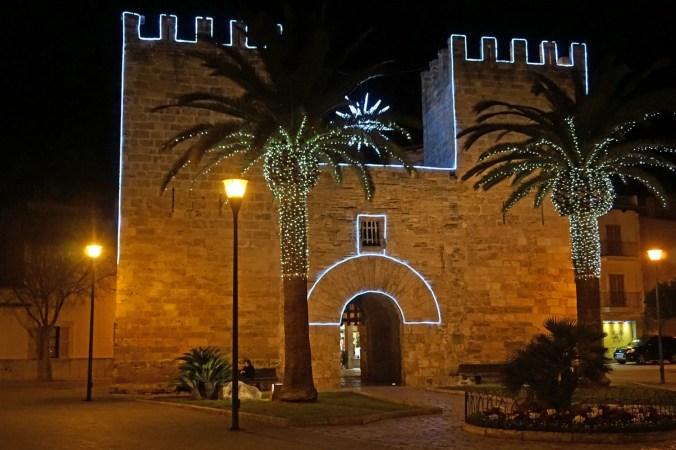 Weihnachtsdeko in Alcudia