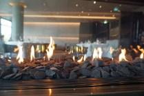 Ein Feuerchen im Restaurant