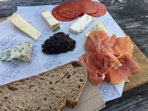Schinken und Käse
