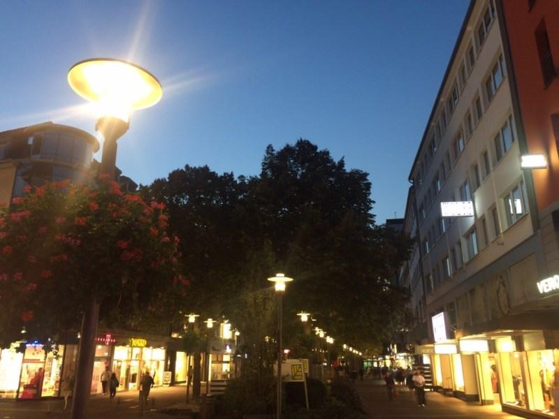 Lichter in der Fußgängerzone in Hagen
