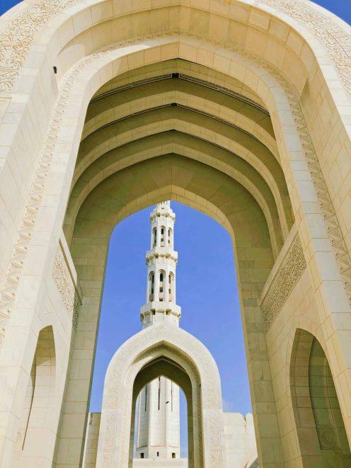 Moschee-Architektur in Muscat
