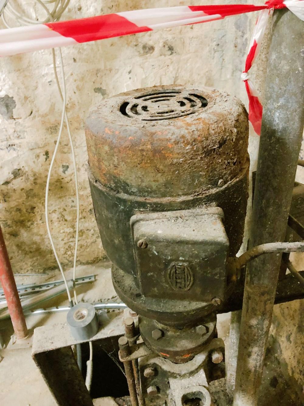 Denkmalschutz für eine Pumpe