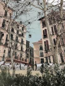 Hausfassade in Madrid