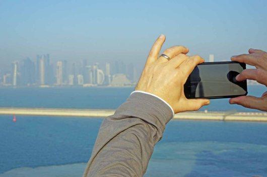 Ankunft in Doha