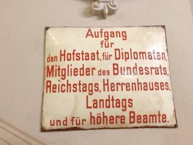 Schild im Berliner Dom