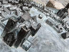 Modell von Münster nach dem Krieg