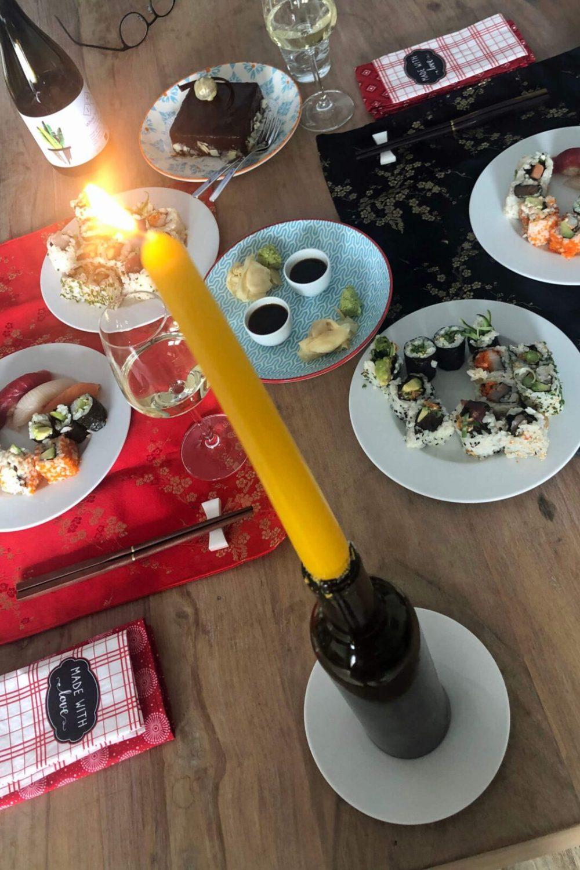 Zugabe: Kerze mit Streichhölzern
