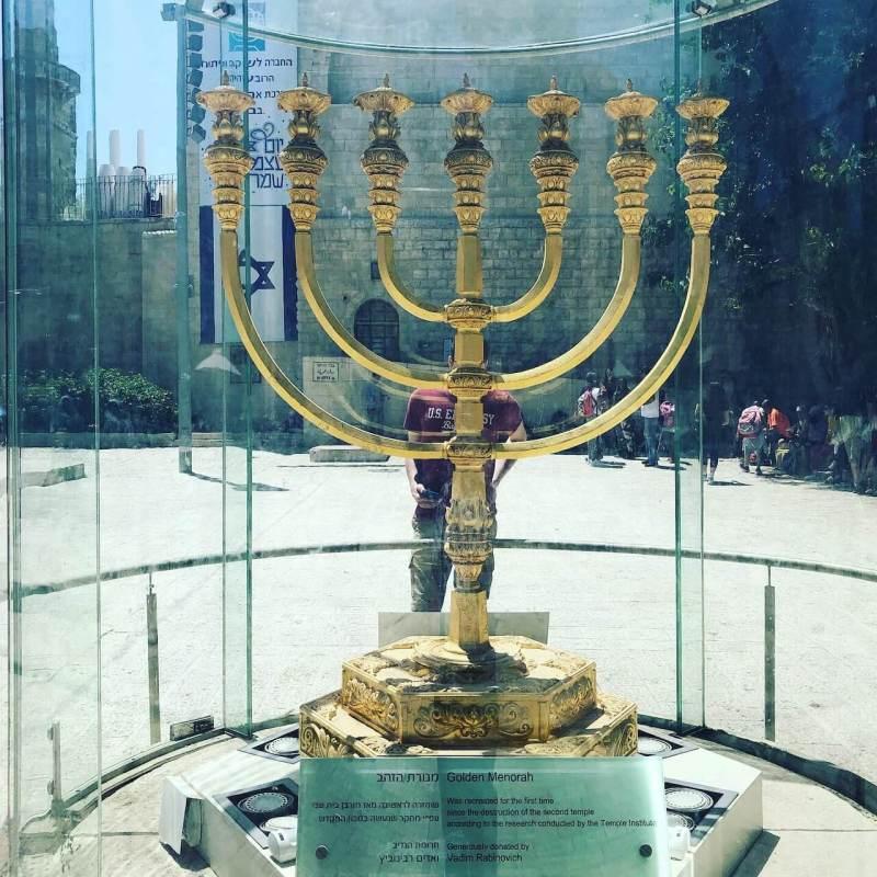 Jüdischer siebenarmiger Leuchter