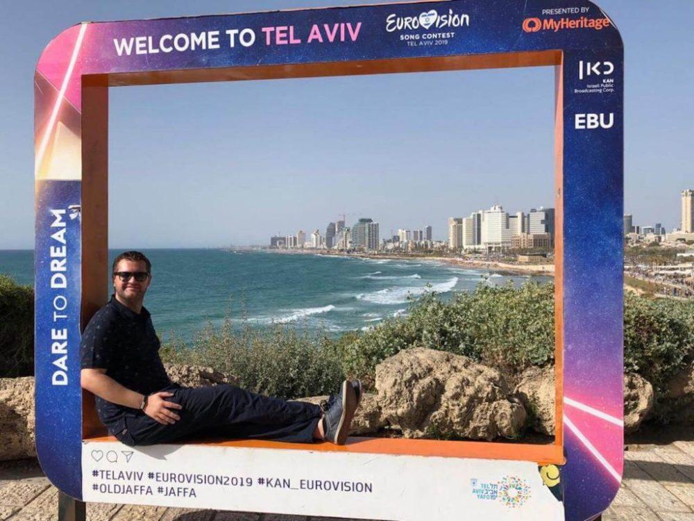 ESC-Bilderrahmen in Tel Aviv