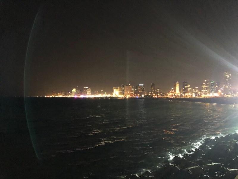 Skyline von Tel Aviv bei Nacht