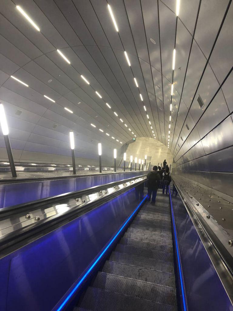 Rolltreppe im Bahnhof in Jerusalem