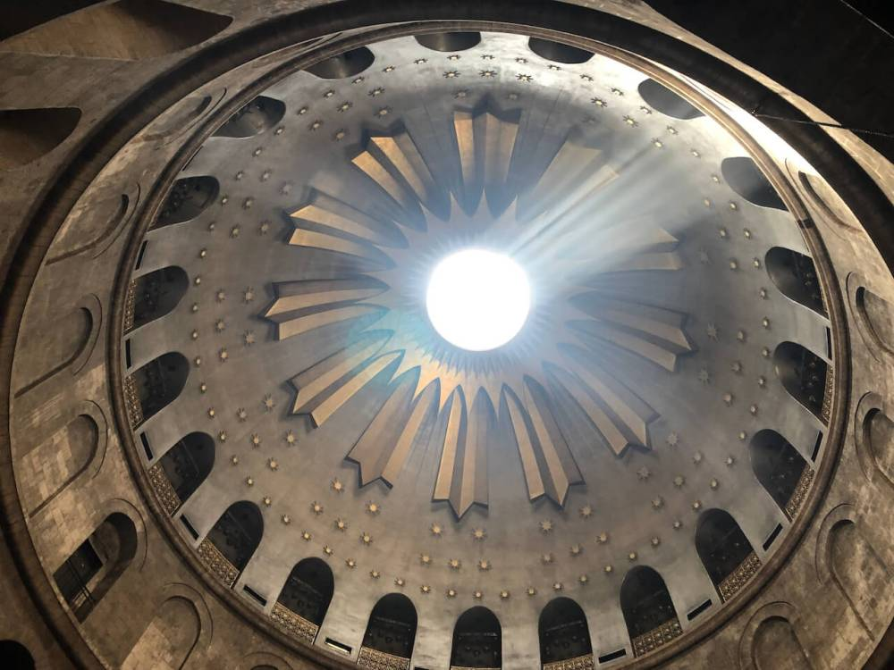Kuppel Grabeskirche in Jerusalem