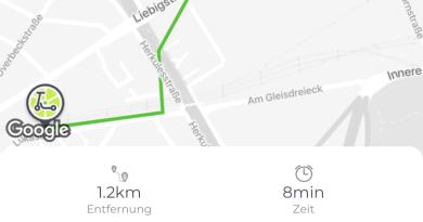 Mit dem E-Scooter durch die Stadt