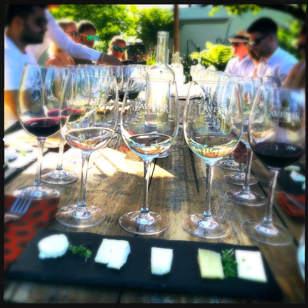 Weinverkostung draußen