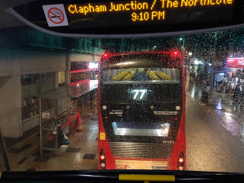 Die weltberühmten Londoner Doppeldeckerbusse