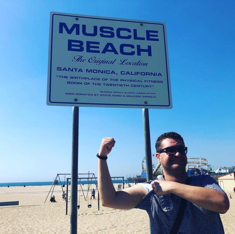 Los Angeles Strände Muscle Beach