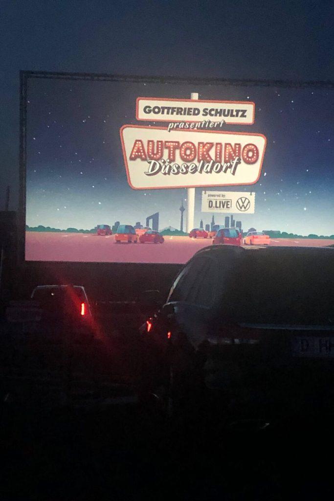 Im Autokino in Düsseldorf