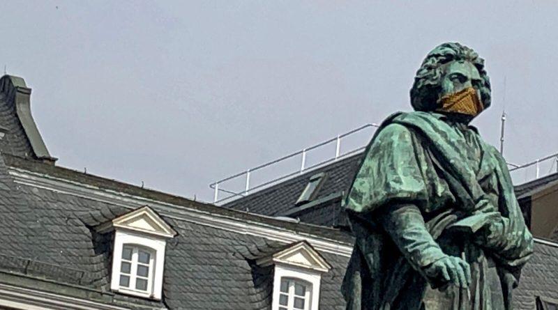 Beethoven mit Nase-Mund-Schutz