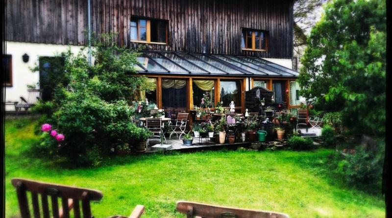 Im Garten der Pension Frank'nhof