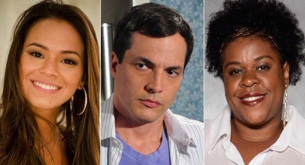 Bruna Marquezine, Daniel Boaventura e Cacau Protásio vão dançar no Domingão. Foto: Divulgação