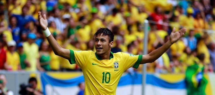 Neymar comemora o gol. Foto: Divulgação