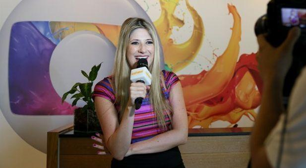 Dani grava sua primeira entrevista ao portal da Globo. Foto: GShow