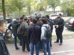 Refugee Protest in Bornitzstr. 102 Berlin Session