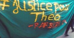 Smartresistance gegen den europäischen Polizeikongress justice for Theo