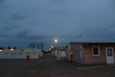 picture of a camp for asylum seekers near Halberstadt