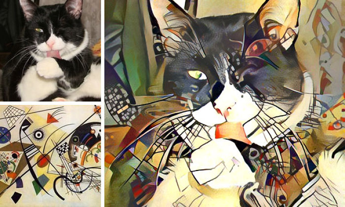 Pictures Combined Using Neural Networks