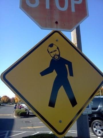 Watch it! Mr. T is walking!